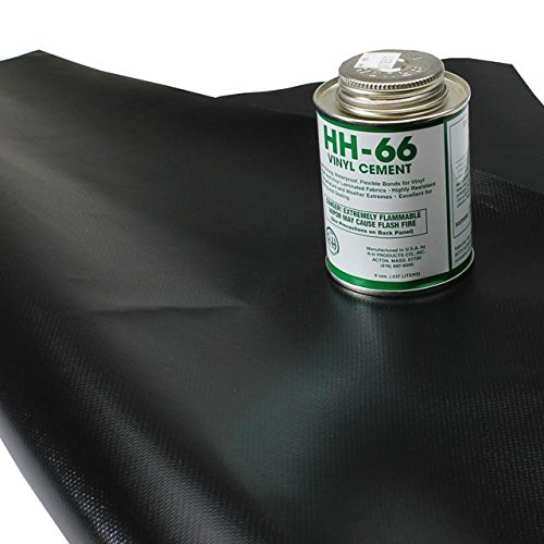 Tarp Repair Kit: 2'x2' Black Tarp Patch and Vinyl Cement by US Cargo Control