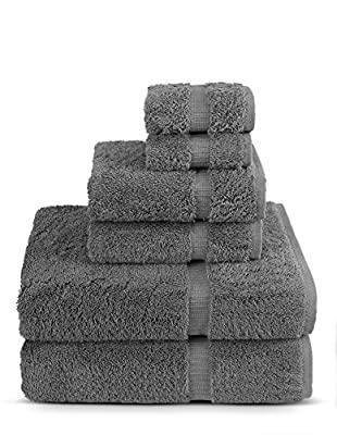 6 Piece Turkish Luxury Turkish Cotton Towel Set - Eco Friendly, 2 Bath Towels, 2 Hand Towels, 2 Wash Clothes by Turkish Towel