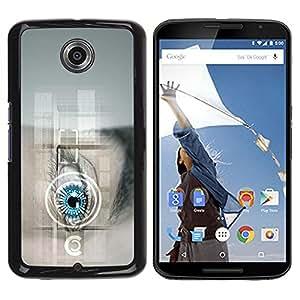 Be Good Phone Accessory // Dura Cáscara cubierta Protectora Caso Carcasa Funda de Protección para Motorola NEXUS 6 / X / Moto X Pro // Future Tech Doctor Robot Android