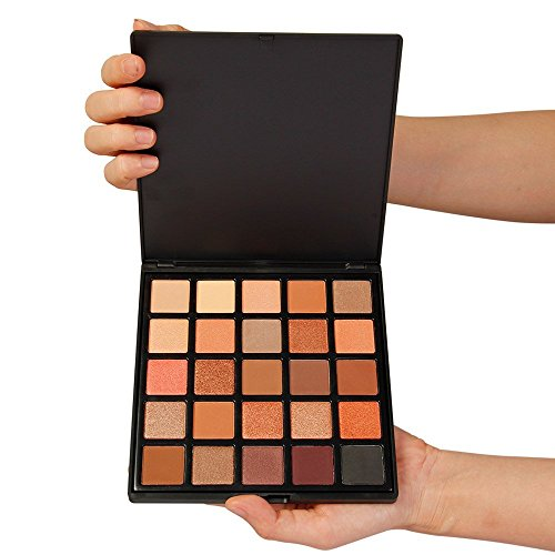 MISKOS 25 Color Eyeshadow Palette Orange Warm Winter Pigmented Eye Shadow Makeup Waterproof Pallets