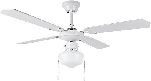 Orbegozo CL 04105 B Ventilador de techo con luz, 50 W de potencia, diámetro de 105 cm, 4 palas reversibles y 3 velocidades: Amazon.es: Hogar