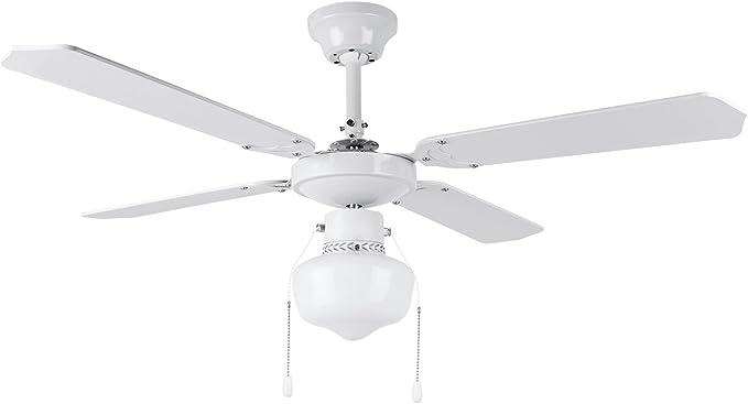 Orbegozo CL 04105 B Ventilador de techo con luz, 50 W de potencia, diámetro de 105 cm, 4 palas reversibles y 3 ...