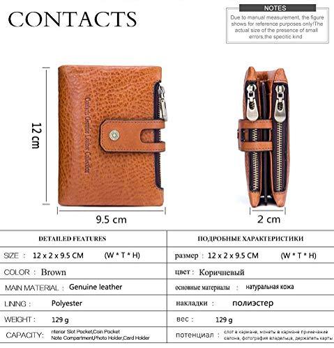 Anti Mode Identification radio Porte Portefeuille Pour fold Boucle Homme Sac magnétique Fréquence Cuir Nouveau Anti Tri En monnaie De Cartes Niceamz Paquet 7EXqw4W