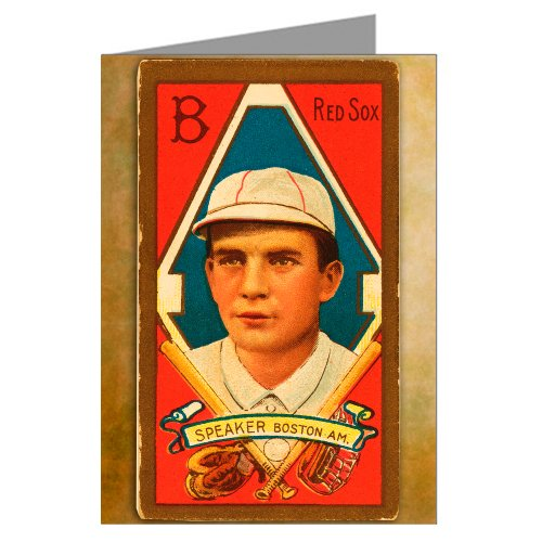 Single Greeting Card of Tris Speaker Boston Red Sox Baseball Trading ()