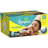 Pampers Swaddlers Diapers Size 3 Economy Pack Plus 162 Count (Packaging May Vary)