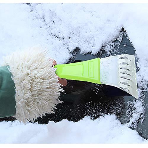 9 6.5cm DaoRier Pala de hielo del coche Port/átil mango de espuma Plastic pala para nieve rascador de hielo para coche motocicleta 25