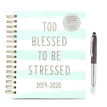 Amazon.com: Eccolo 2019 2020 agenda en espiral cristiana ...