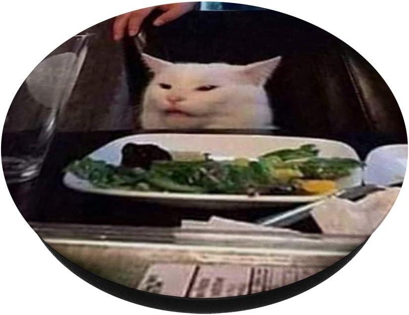Support et Grip pour Smartphone//Tablette avec un Top Interchangeable Dr/ôle chat mignon souriant kitty vous regarde avec amour PopSockets PopGrip