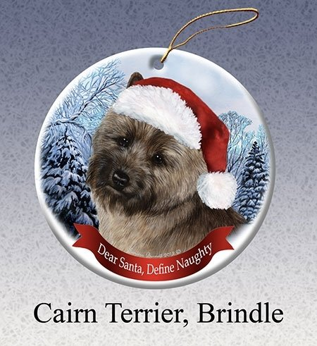 Amazoncom Define Naughty Brindle Cairn Terrier Ornament