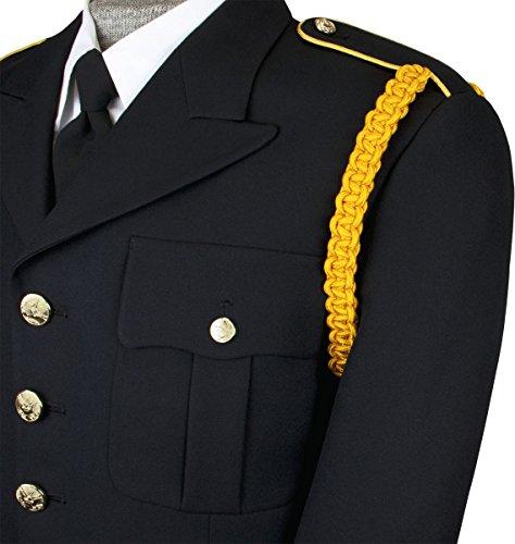 Gold Uniform (Single Braid One Color Shoulder Cord No Tip (Dark Gold))