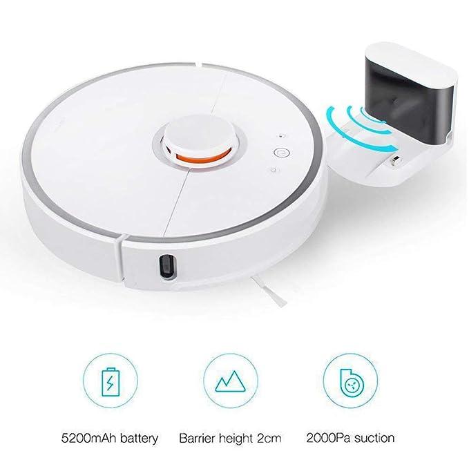Aspiradora Smart Mi Robot, Aspiradora Roborock S50, Aspiradora Xiaomi 2 Generación UE (Integración de barrido y trapeado, Sensor LDS, Recarga automática, ...