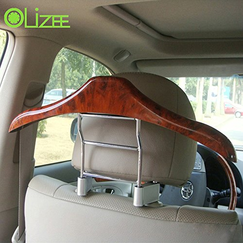 OLizee™ Genuine Wood Travel Vehicle Hanger Car Seat Coat Hanger Rack