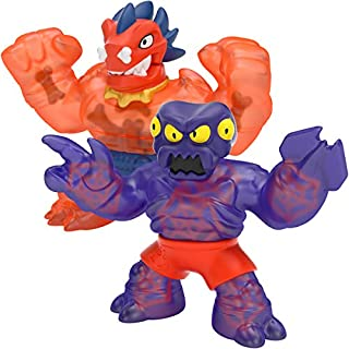 Heroes of Goo Jit Zu Dino Power Versus Pack - 2 Action Figures - Volcanic Rumble - Blazagon Vs Redback, Multicolor (41111)