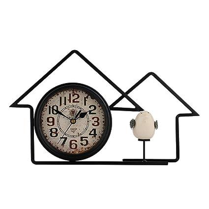 Dxkhome 6 Pulgadas Reloj de Mesa Antiguo Hierro Forjado ...