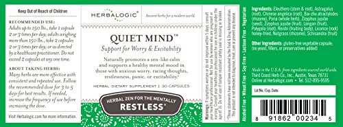 Quiet Mind Capsules 30 Ct 500 Mg