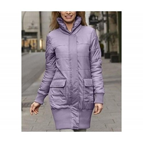 Chaqueta en forma de Long Forma You Estiloso Look Smoked Lilac Talla 34