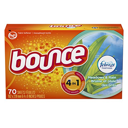 Bounce with Febreze Meadows & Rain Dryer Sheets, 70 Count, (Pack of 3) by Bounce (Image #4)