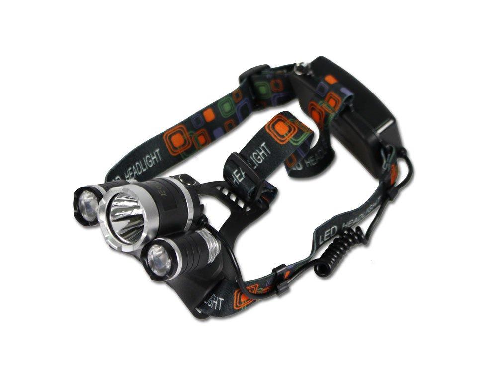 Vetrineinrete® Torcia frontale a led 4 modalità di illuminazione lampada da testa ricaricabile impermeabile per officina ciclismo scalata lavoro pesca BL-RJ-3000-T6 E40