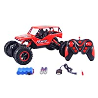 HUKOER Remote Control Car - Four-wheel drive off-road vehicles 2.4GHZ 1:16 Scale Off Road Electric Fast 4WD High Speed RC Rock Crawler Hobby Car (Red)