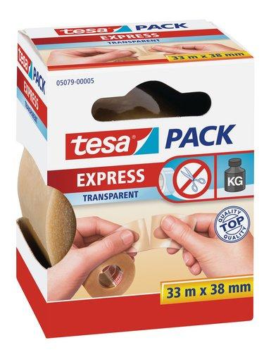 Tesa Express 28 mm x 33 m marr/ón Cinta adhesiva