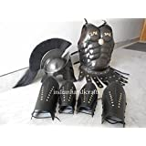 300 spartan helmet Maximus MUSCLE ARMOR & 300 HELMET & LEATHER LEG & ARM GURD