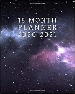month planner pretty night sky weekly planner