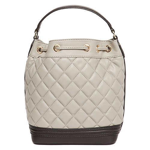 Love Moschino shoulder bag nappa pu quilted grey/black