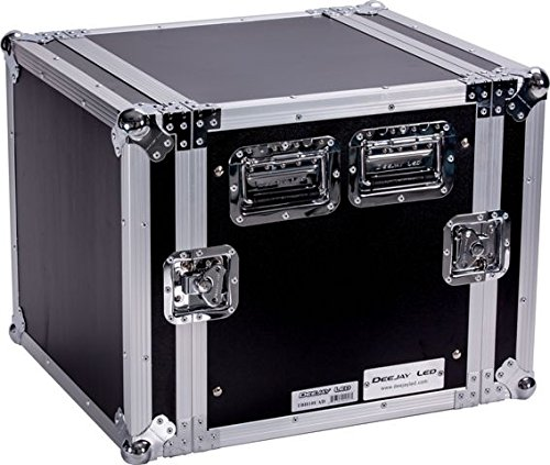 DEEJAY LED TBH10UAD Fly Drive 10u Space Rack DJ Amplifier Case with 18-Inch Body Depth