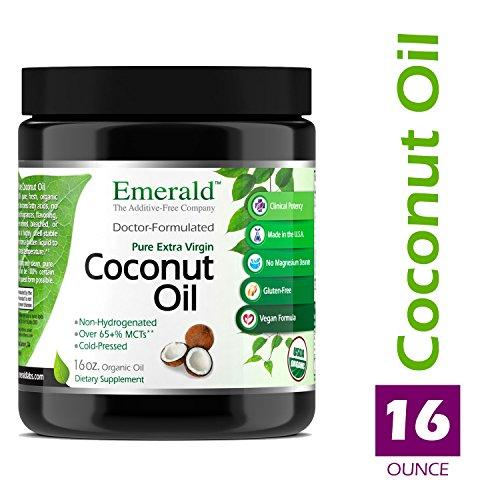 Coconut Oil - 100% Pure Extra Virgin Coconut Oil - Promotes Cholesterol Health, Weight Loss, Immune Support, & Brain Health - Emerald Laboratories (Fruitrients) - 16 oz. Pure Oil