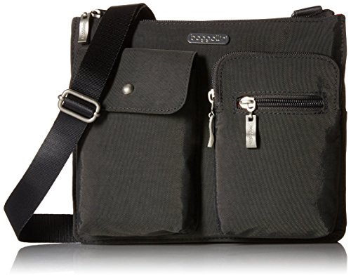 Baggallini Everything Travel Crossbody Bag, Charcoal, One Size