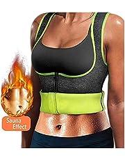 WABISABI DREAMS Neopreen top voor dames, Sauna fit effect, slank makende band. Dames Neopreen vest vermindert de druk, meer effectief zweten, afslank top voor fitness sporten - GRIJS