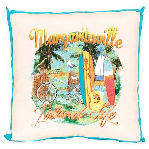 Margaritaville® Window Pane 20-Inch Square Throw Pillow in Blue