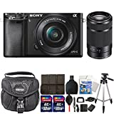 Sony Alpha A6000 Mirrorless Digital Camera (Black) with 16-50mm and 55-210mm Accessory Kit For Sale