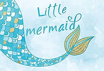 LFEEY 9x6ft Beautiful Mermaid Tail Backdrop Baby Shower Kids Birthday Party Decor Wallpaper Banner Photography Background