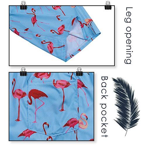 ELETOP Men's Swim Trunks Quick Dry Board Shorts Beach Holiday Bathing Suit Print Swimwear