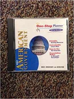 Holt American Government, One-Stop Planner with Test