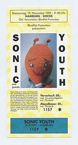 Sonic Youth 1992 Nov 19 Hamburg Germany Unused Ticket
