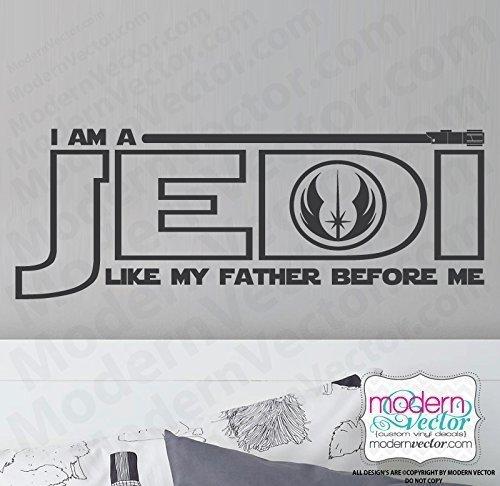 (Star Wars I am a Jedi Vinyl Wall Decal)