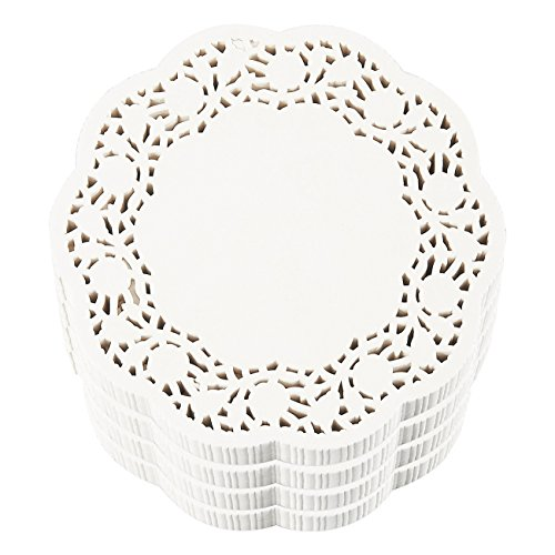 Paper Doilies – 1000-Pack Round Lace Placemats for Cakes, Desserts, Baked Treat Display, Ideal for Weddings, Formal Event Decoration, Tableware Decor, White - 5 Inches in Diameter by Juvale