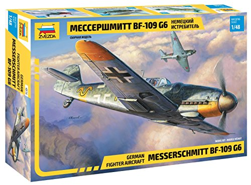 Zvezda 1/48 Messerschmitt Bf-109 G6 German Fighter Aircraft 4816 (109 Fighter Bf)