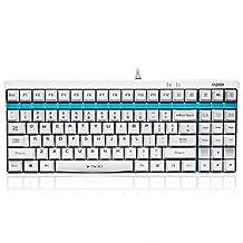 RAPOO   V500-W Mechanical Gaming Keyboard - WHITE / Full Keys Programmable