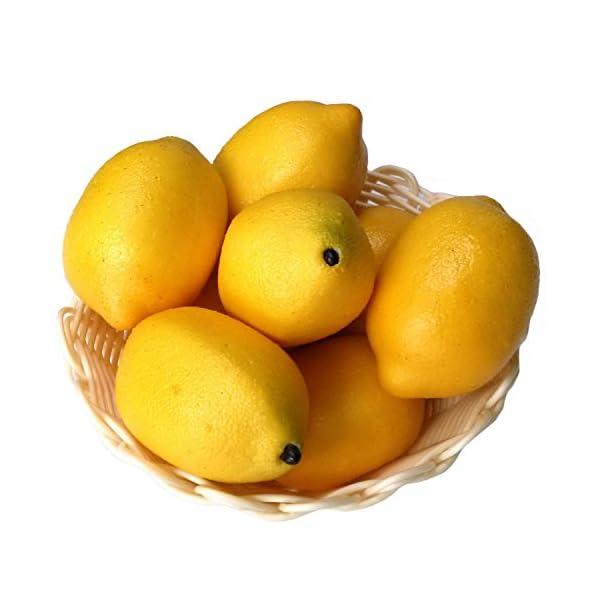 Gresorth-8pcs-Artificial-Lifelike-Simulation-Yellow-Lemon-Fake-Fruit-Home-Kitchen-Cabinet-Decoration-Food-Model