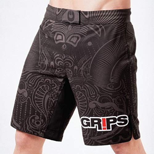 Grips Men's Warrior's Instinct Fight Shorts 2015 (Black, M)