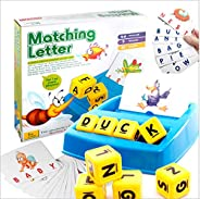 Matching Letter Game,Letter Spelling and Reading Game for Preschool Kindergarten 3 and 4 Letter Picture Word M