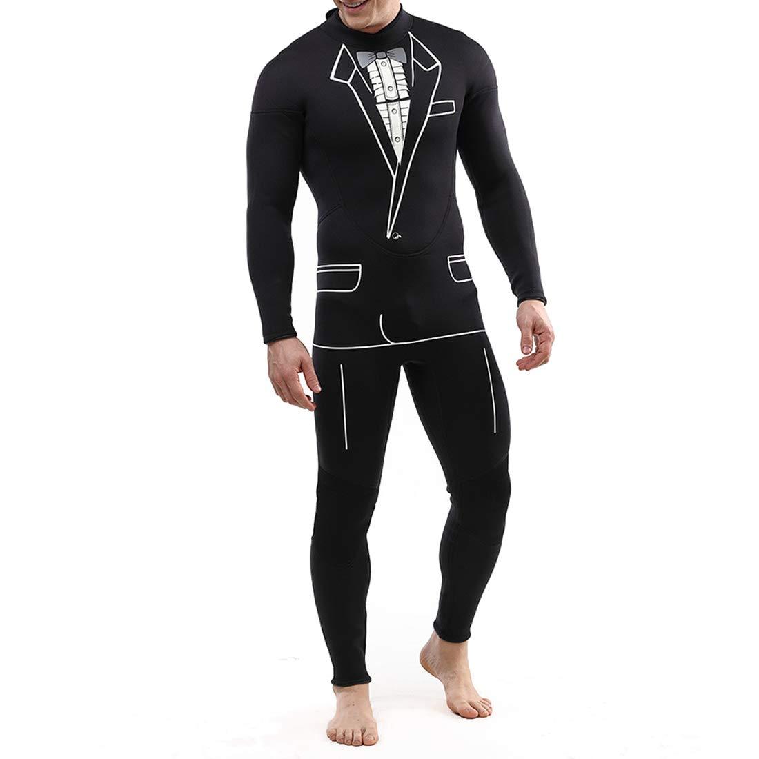 CeSuoLiBengDi ウェットスーツ メンズ レディース 水着 ダイビング スーツの形 防寒 保温性優れる 日焼け止め 厚い 吸汗速乾  長袖 (Color : ブラック, サイズ : M) B07G772XZJ XX-Large ブラック ブラック XX-Large