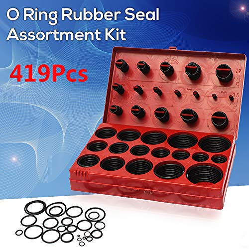 Gimax 419Pcs Assorted O Ring Rubber Seal Assortment Set Kit Garage Plumbing with Case for General Plumbers Mechanics Workshop by GIMAX (Image #2)