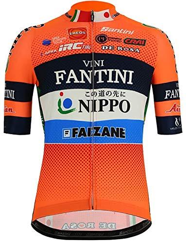 自転車ウェア 2019 Fantini Nippo Vini 半袖ジャージ Lサイズ サンティーニ   B07PHTNPJ9