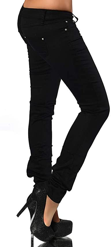 H937 Damen Jeans Hose H/üfthose Damenjeans H/üftjeans R/öhrenjeans R/öhrenhose R/öhre