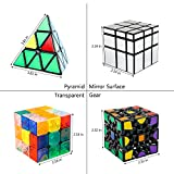 AROGEAR 4 New Different Popular 3x3 Magic Cube with Good Gift Pack,Good Brain Training Decompressing for All Ages of People,More Logic Fun,Quicker and Precisely,Easy and Smooth Turning,eco-Friendly