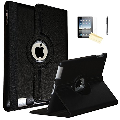 iPad 9.7 2018 / 2017 Case, JYtrend (R) Rotating Stand Smart Case Magnetic Auto Wake Up/Sleep Cover For A1893 A1954 A1822 A1823 MP252LL/A MR7G2LL/A MR702LL/A MP292LL/A MPGC2LL/A MPG62LL/A (Black)